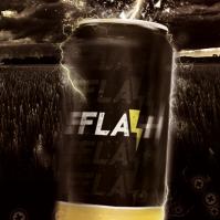 Flash energy drink.  Grafika użytkowa.  0.